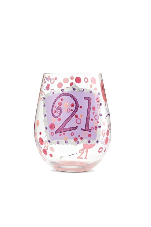 21 Stemless Wine Glass