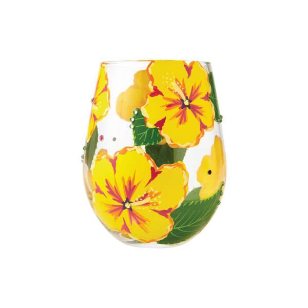 Hibiscus stemless Wine Glass