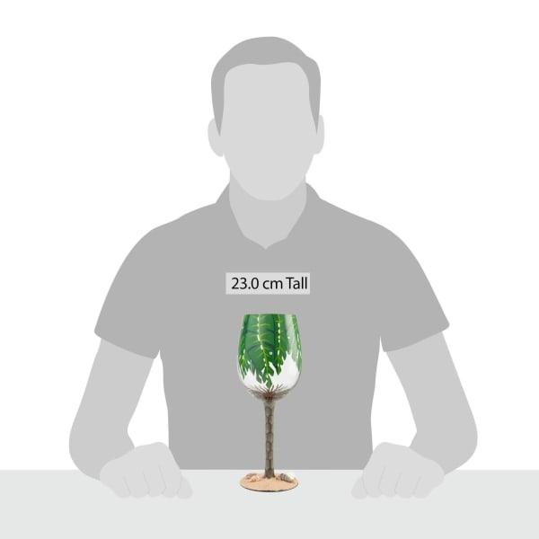 Palm Tree Wine Glass