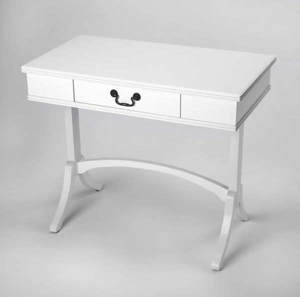Acacia and Pinewood White Writing Desk
