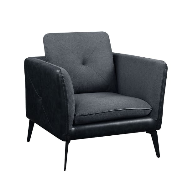 Dark Gray Modern Accent Chair