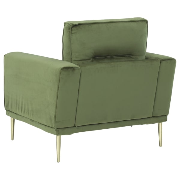 Green Track Arm Accent Chair