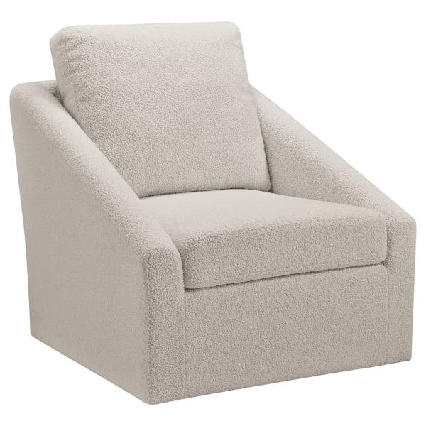Cream Swivel Accent Chair