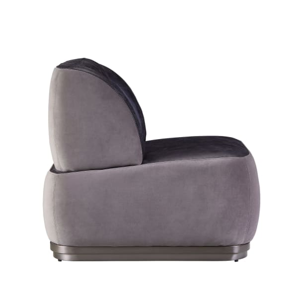 Black and Gray Wingback Leatherette Accent Chair
