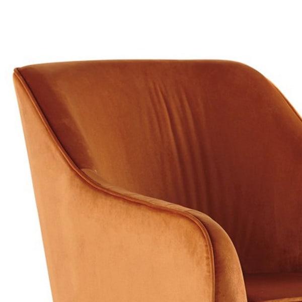 Orange Swivel Accent Chair