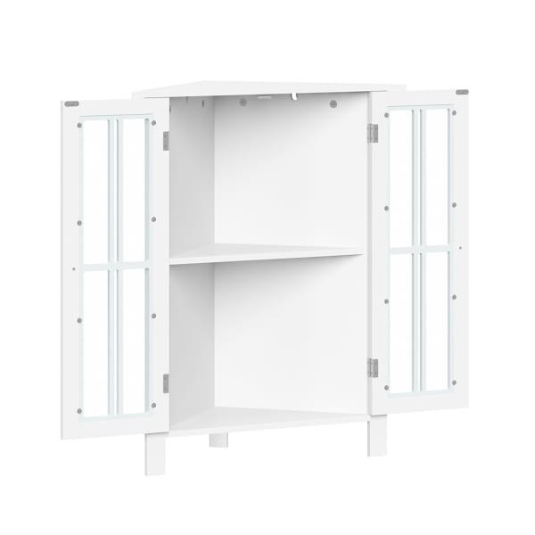 Danbury Two Door Corner Cabinet - White