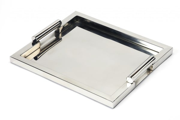 Modern Stainless Steel Serving Tray
