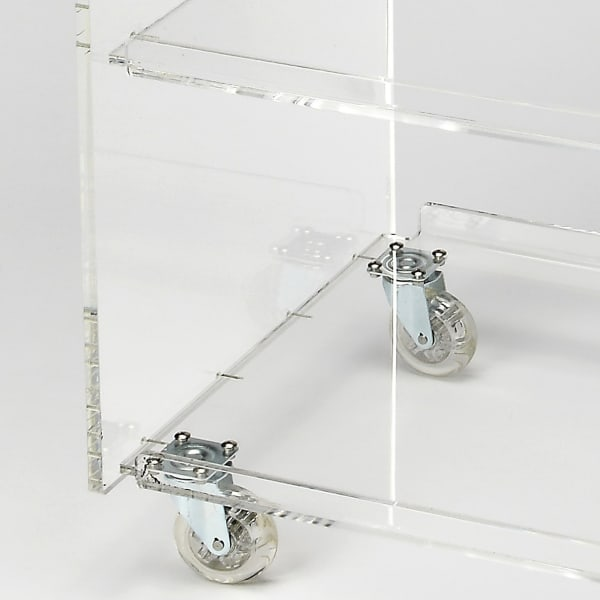 Clear Acrylic Rolling Server Bar Cart