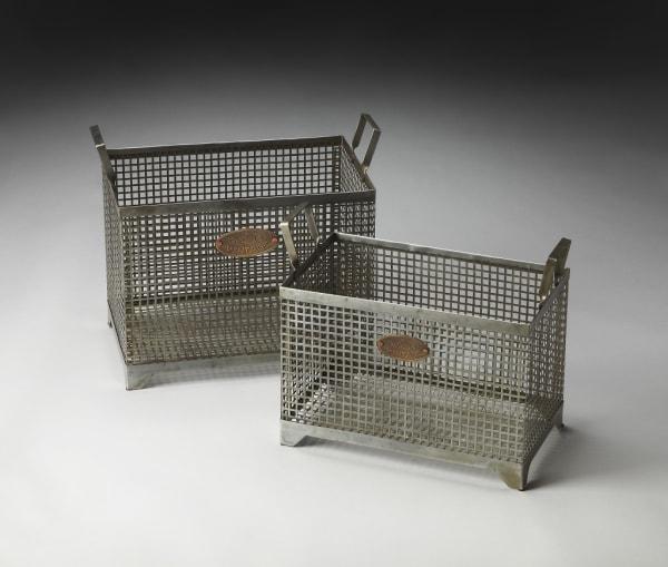 Set of 2 Iron Storage Baskets