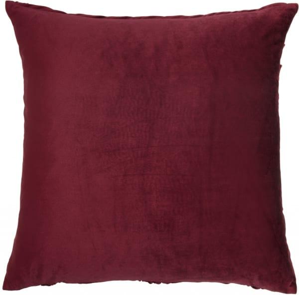 Burgundy Pleated Velvet Throw Pillow