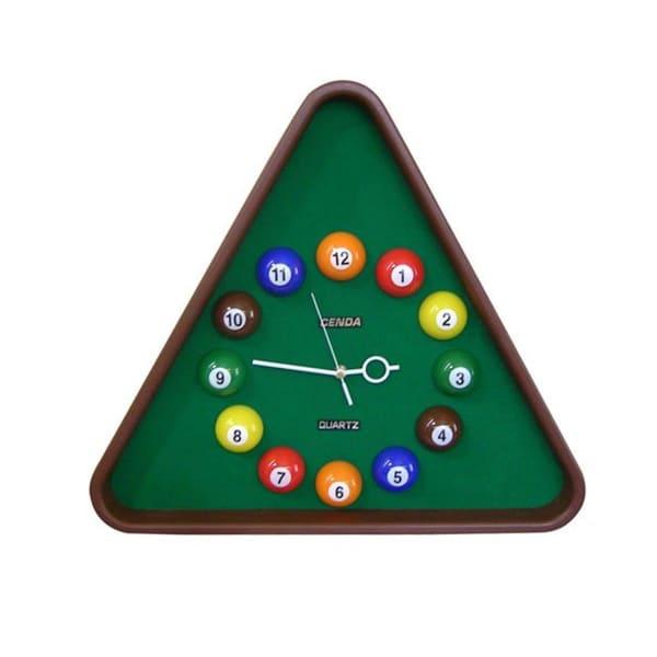 Pool Triangular Multicolor Clock
