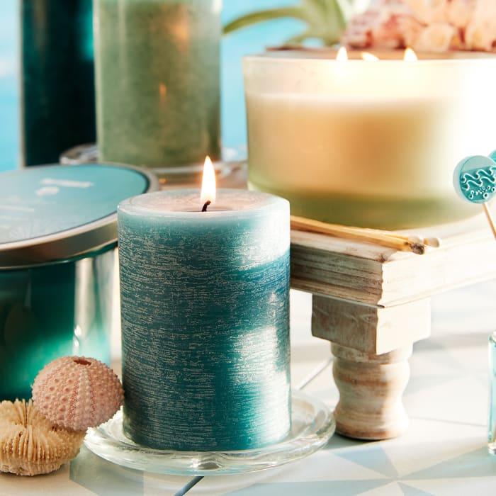 Pier 1 Oceans® Mottled Pillar 3x6 Candle