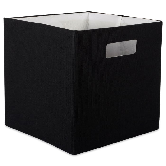 Polyester Cube Solid Black Square 13x13x13