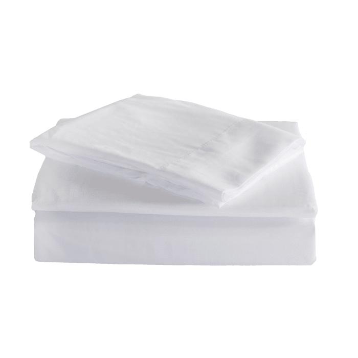 J&M White Microfiber Sheet Set Queen