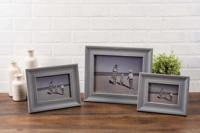 4x6 Distressed Grey Farmhouse Picture Frame