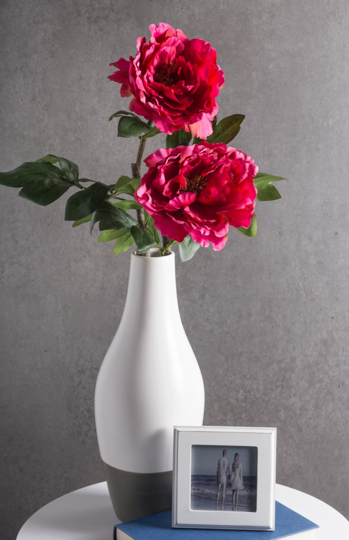 Flower Peony Dark Pink (Set of 3)