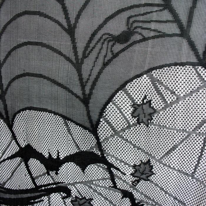 Happy Halloween Lace Window Panel