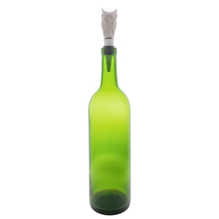 Silver Owl Bottle Stopper (Set of 2)