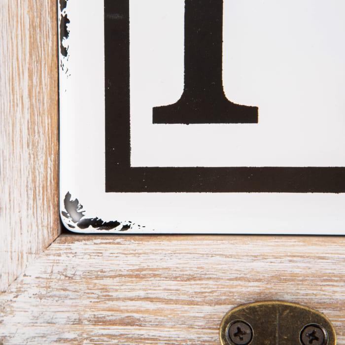Vintage Enamelware Tile Laundry Hook Sign