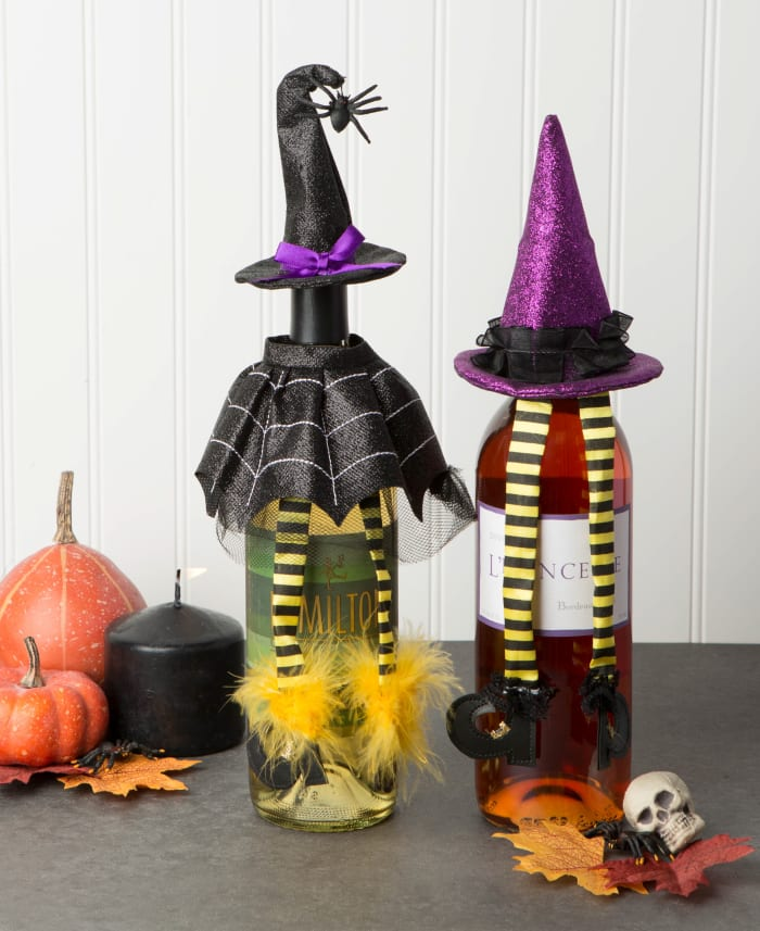 Witch Wine Bottle Outfits (Set of 2)