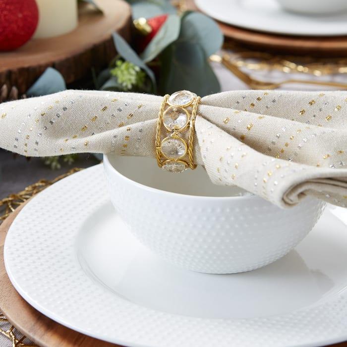 Gold Jewels Napkin Ring (Set of 6)