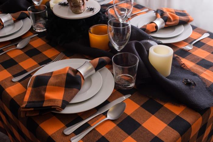 Orange Buffalo Check Napkin (Set of 6)