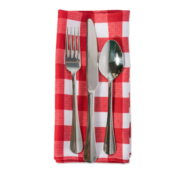 Red Check Outdoor Napkin (Set of 6)