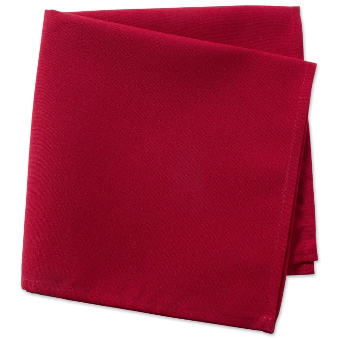 Red Polyester Napkin (Set of 6)