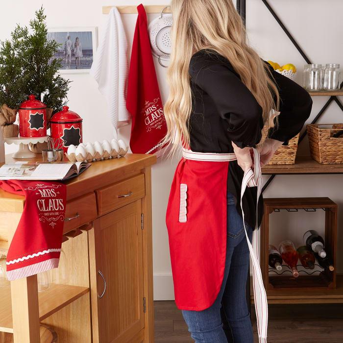 Santa Chef Clause Kitchen, Mrs Claus Chef Kitchen Set, Set of 3
