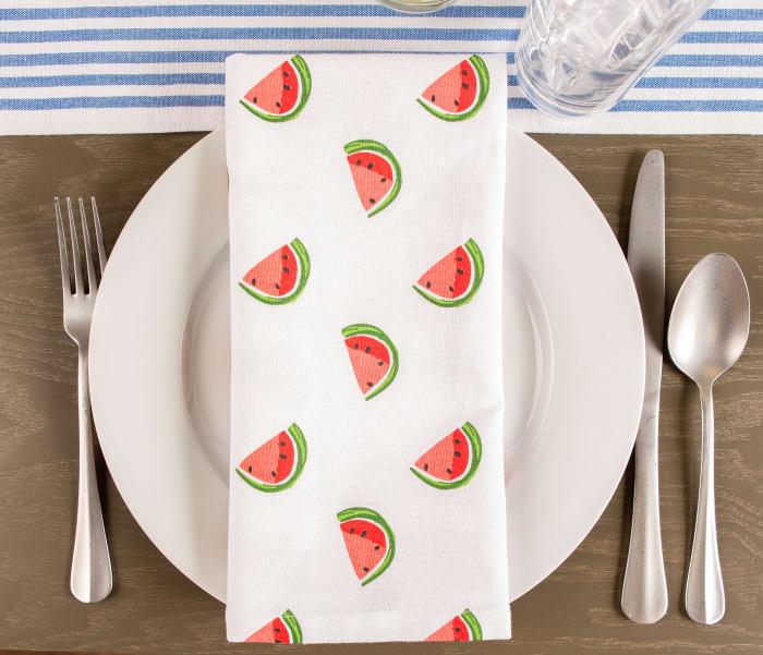 Watermelon Print Napkin (Set of 6)