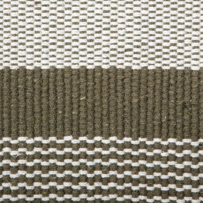 Artichoke Cabana Stripe Recycled Yarn Rug 2x3-ft