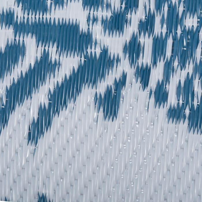 4x6 Blue Pineapple Outdoor Rug