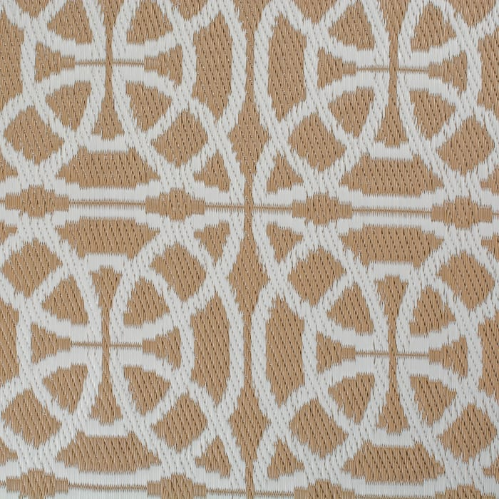 Taupe Infinity Circle Outdoor Rug