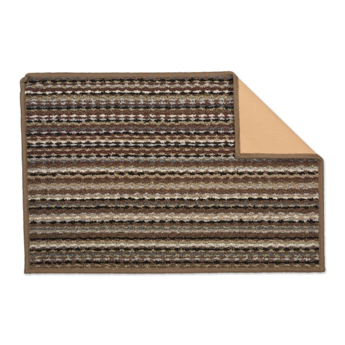 Multi Stripe Printed Nylon Rug 20x30