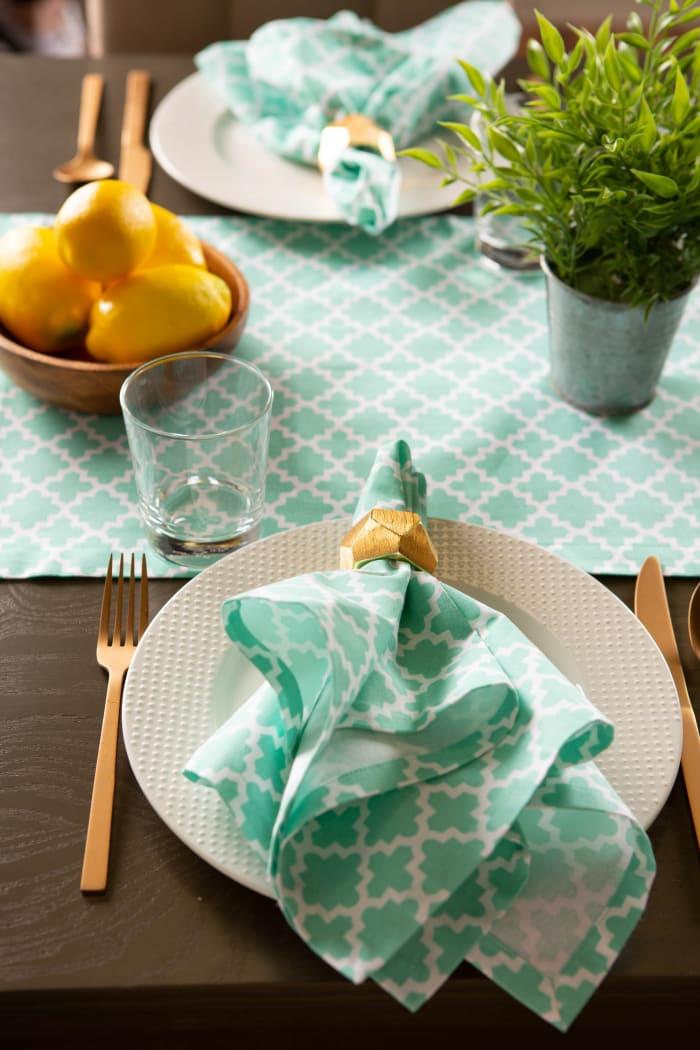 Aqua Lattice Table Runner 14