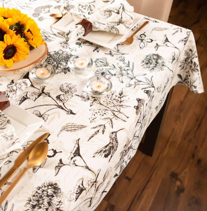 Botanical Print Tablecloth 52x52