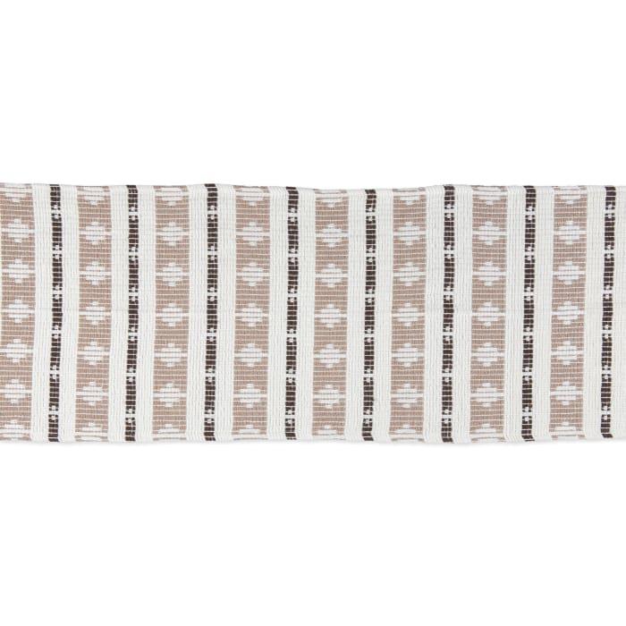 Colby Southwest Dark Brown/Stone Table Runner 15x72