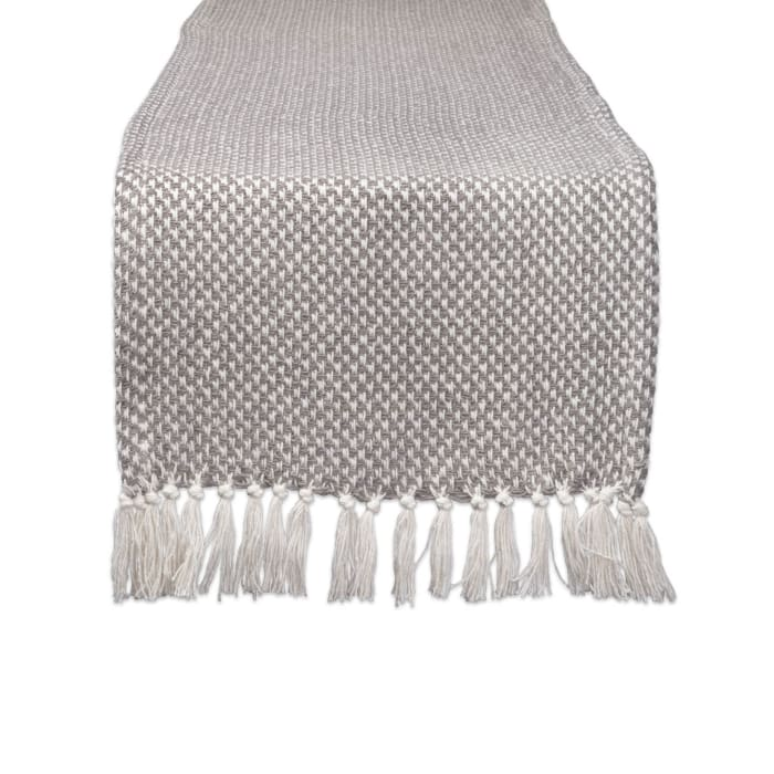 Gray Woven Table Runner 15x72
