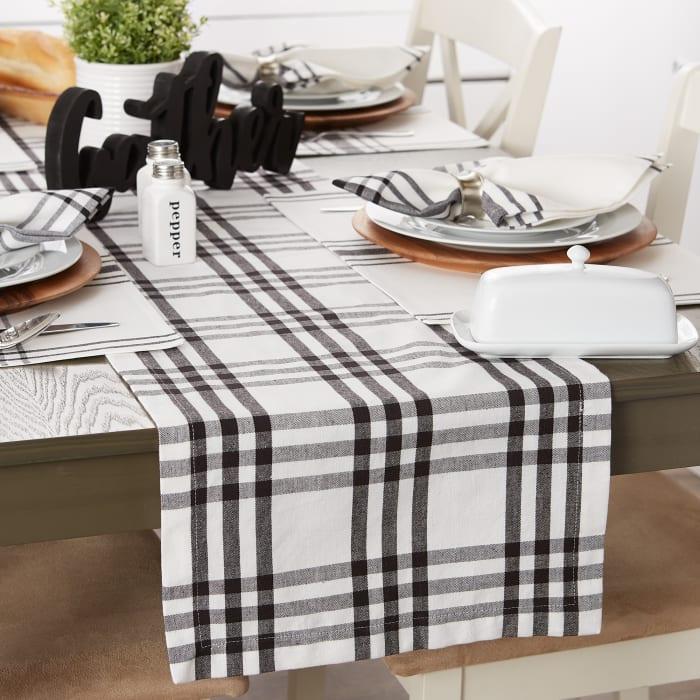Homestead Plaid Table Runner 14x72