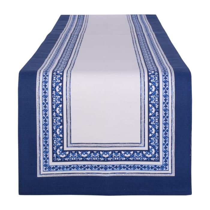 Porto Stripe Print Table Runner 14x72