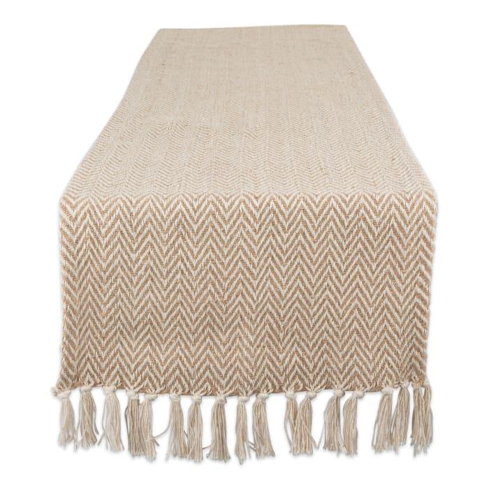Stone Chevron Handloom Table Runner 15x72