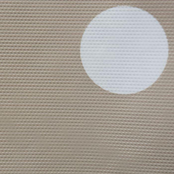 Natural Polka Dot Vinyl Tablecloth 70 Round