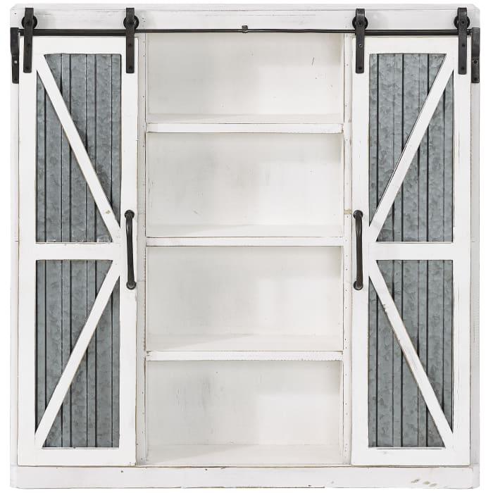 Wynne Farmhouse Barn Door Cabinet