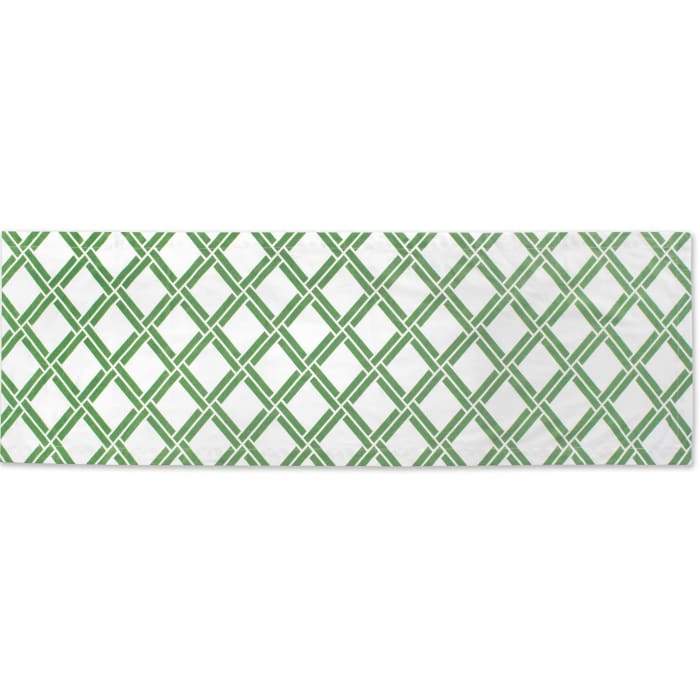 Bamboo Lattice Print Table Runner 14x72