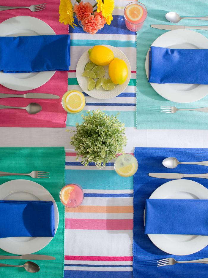 Beachy Keen Stripe Tablecloth 60x120