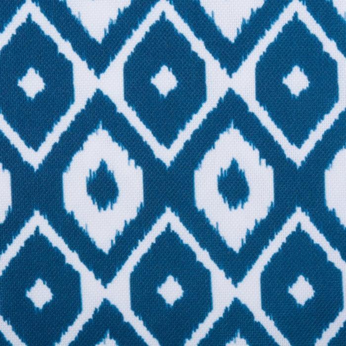 Blue Ikat Outdoor Table Runner With Zipper 14x108