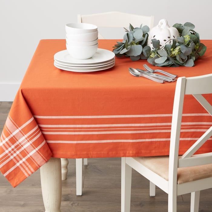 Burnt Orange Harvest Market Tablecloth 60X102