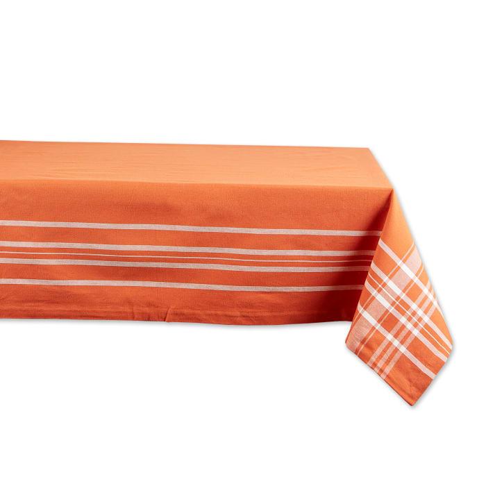 Burnt Orange Harvest Market Tablecloth 60X84