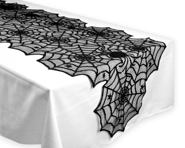 Halloween Lace Table Runner