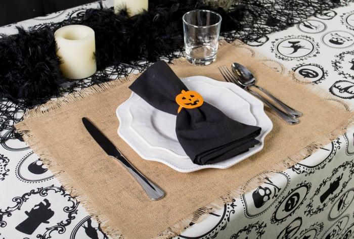 Halloween Portrait Tablecloth 70 Round